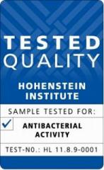 Certification tag issued by the Hohenstein Institute